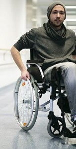 Student im Rollstuhl