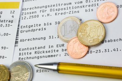 Kontoauszug und Kleingeld - bestes Girokonto