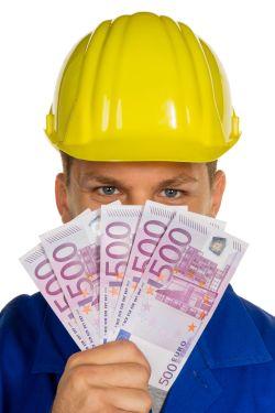 Handwerker mit Geld - Dread Disease Versicherung