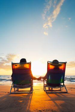 Paar genießt Rente